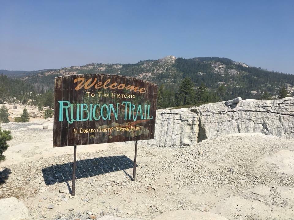 Historic Rubicon Trail Sign