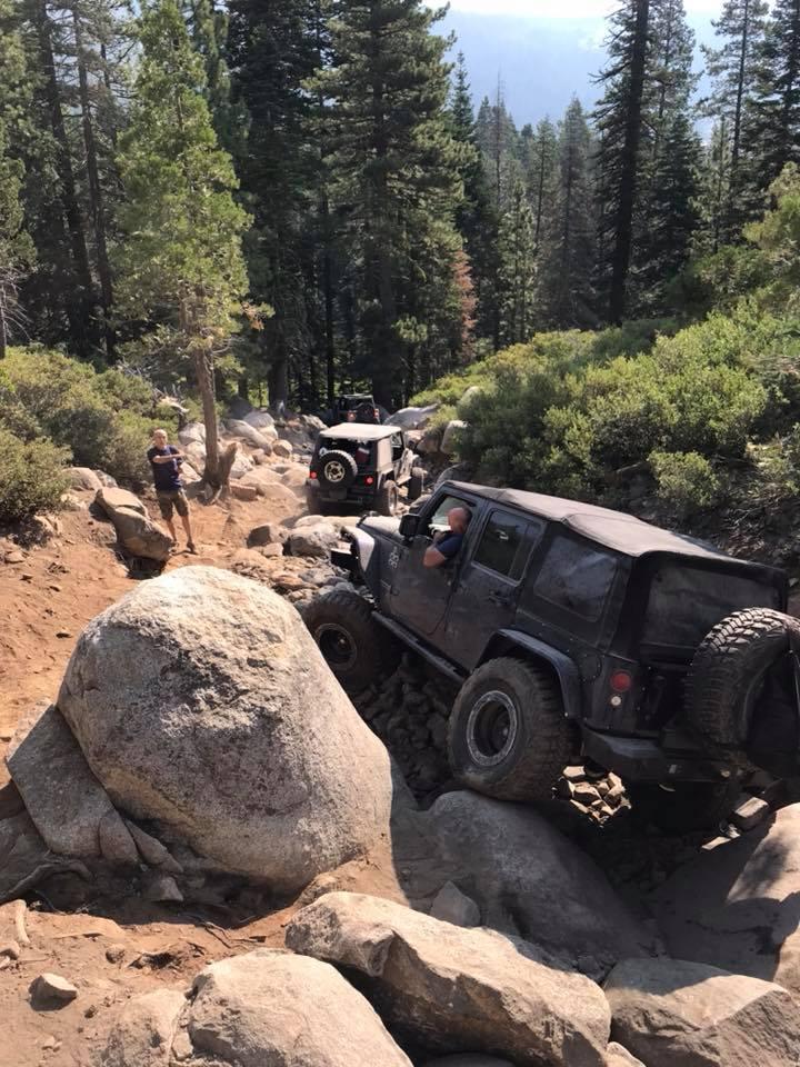large rocks on Rubicon Trail