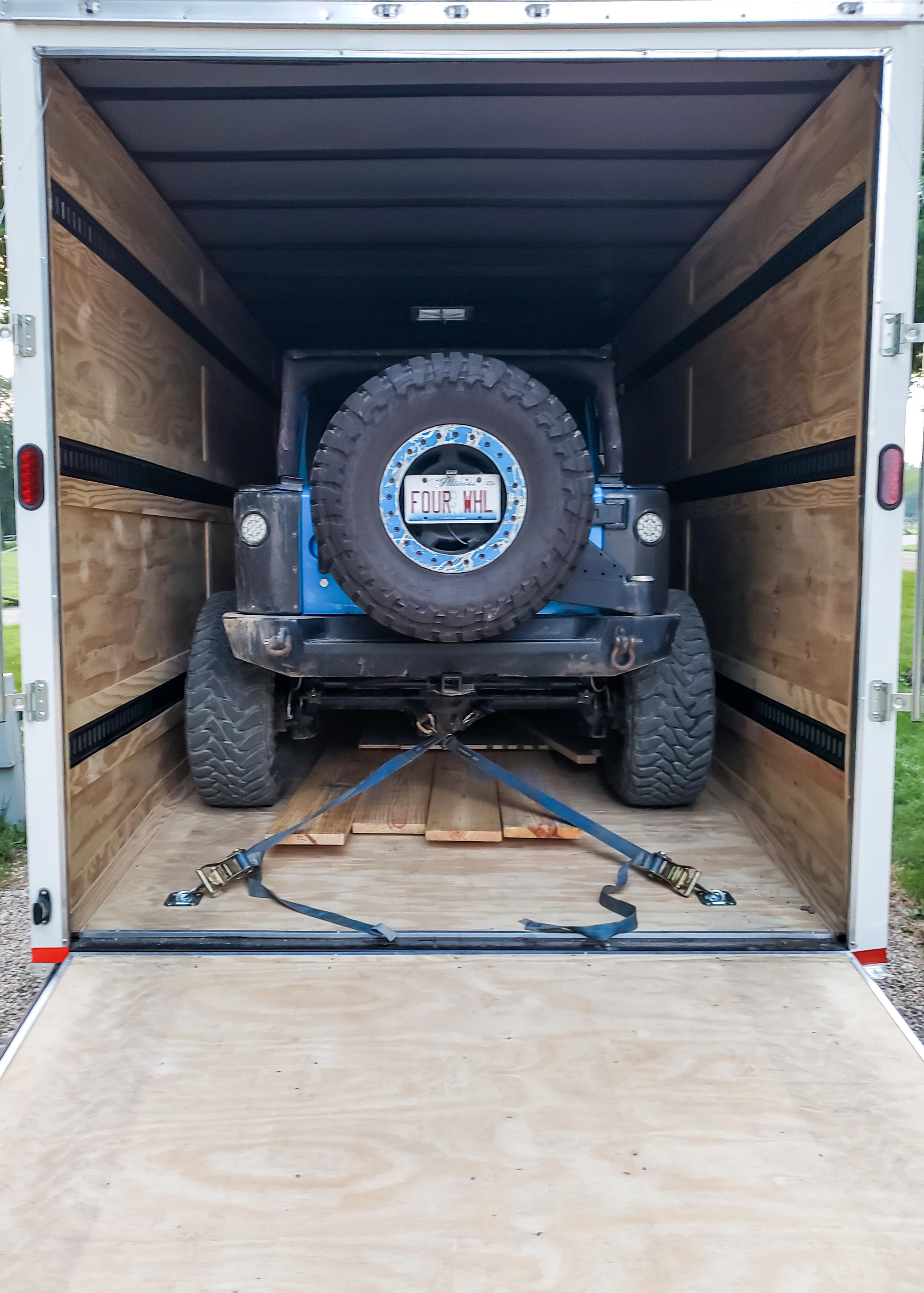 Jeep inside new upgrade trailer